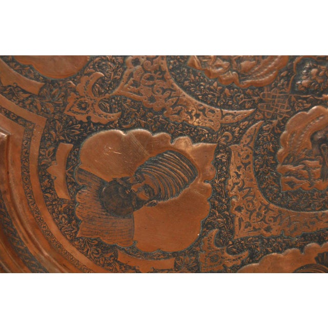 Persian / Indian Copper Table Top - Image 4 of 8