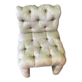 Gina B Tufted Rolled Back Boudoir Chair