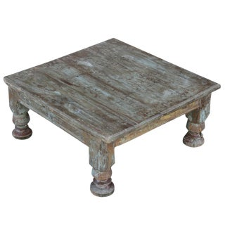 Large Aged Bajot Floor Table