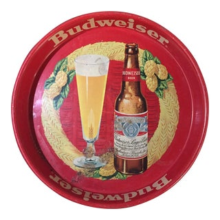 Antique Budweiser Advertising Tin Tray