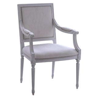 Hand Painted French Style Armchair