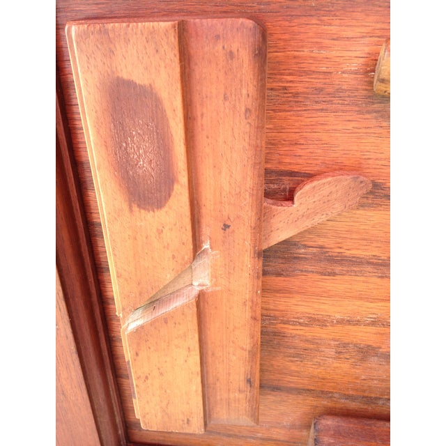 Antique Tools in Reclaimed Wood Shadowbox - Image 6 of 10