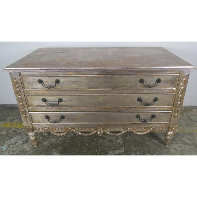 Silvered Chest Of Drawers C. 1930's - Image 4 of 10