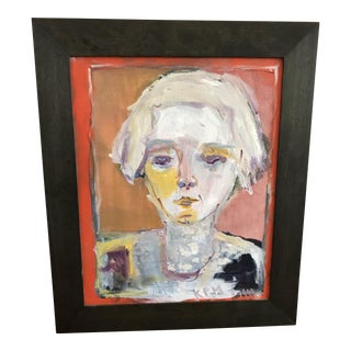 Modernist Oil Portrait Painting
