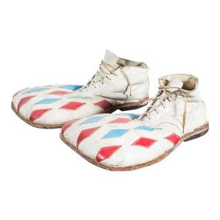Vintage Circus or Carnival Clown Diamond Clown Shoes