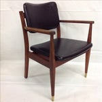Image of Danish Modern Oiled Walnut Executive Chair