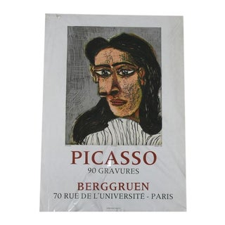 Vintage 1971 Picasso Exhibition Poster/Lithograph