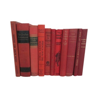 Vintage Collection of Classic Red Books - S/11
