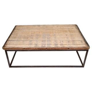 California Wood & Metal Coffee Table