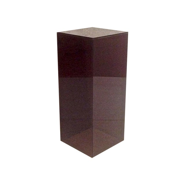 Vintage Smoked Lucite Pedestal - Image 1 of 5