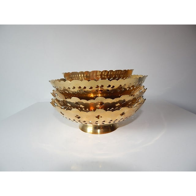 Ambika Brass Bowls - Set of 4 - Image 3 of 8