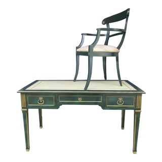Bodart French Louis XVI Style Writing Desk and Chair
