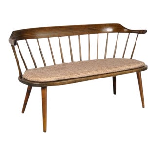 Rare Bench by Yngve Ekstrom for Småland, Sweden circa 1950