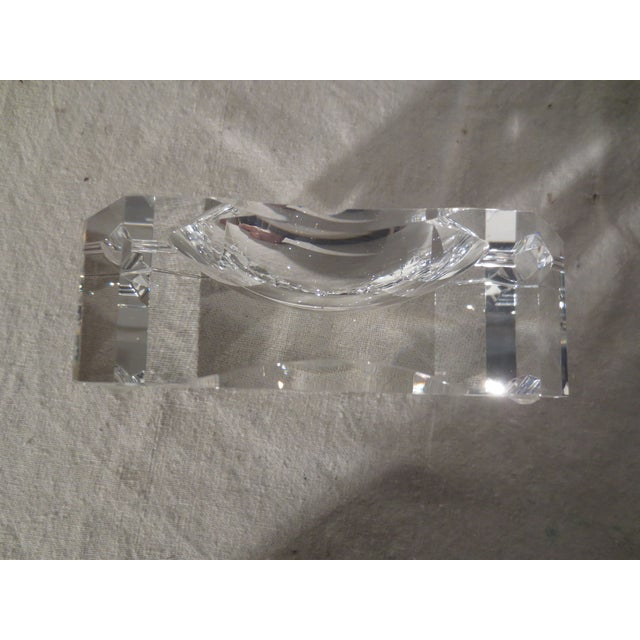 Clear Crystal French Ash Tray - Image 3 of 5