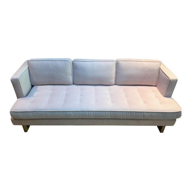 Modern Light Pink Velvet Sofa - Image 1 of 5