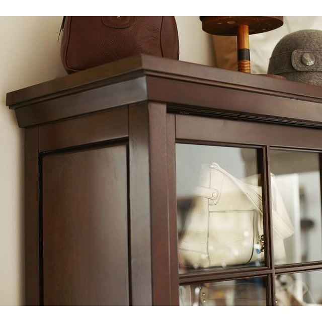 Image of Pottery Barn Garrett Glass Cabinet
