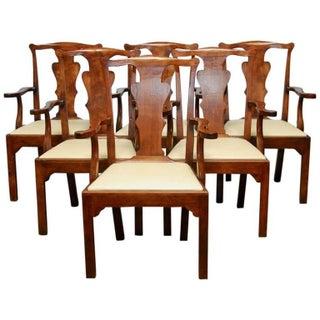 George III Walnut Dining Chairs - Set of 6