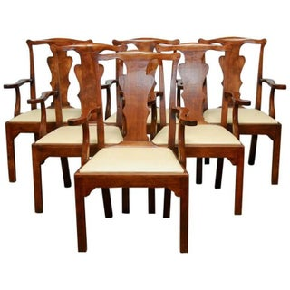 George III Walnut Dining Chairs - Set of 6