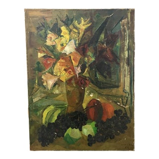 1964 Argentinian Cubist Oil Still Life Signed