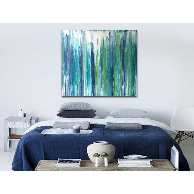 'Waterfall' Original Abstract Painting by Linnea Heide - Image 3 of 8
