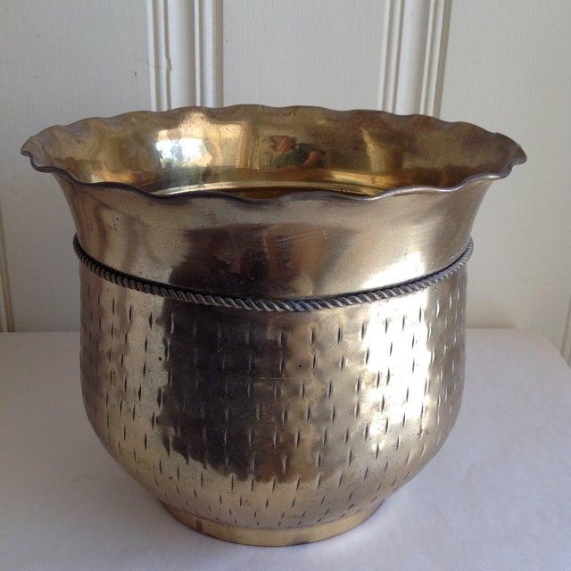 Vintage Etched Metal Brass Vessel - Image 7 of 9