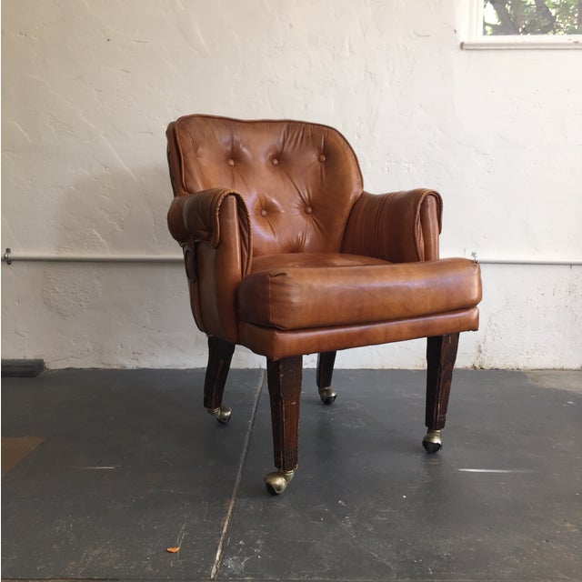 Tufted Faux Leather Chair - Image 2 of 4