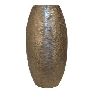 Nickel Textured Sculptural Vase