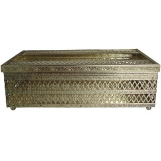 Hollywood Regency Filigree Tissue Holder