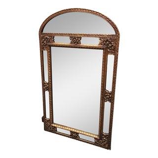Vintage Floral Motif Gilt Framed Mirror