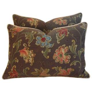 Designer Brunschwig & Fils Floral Pillows - Pair