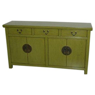 Lime Green Asian Style Sideboard