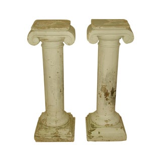 Architectural Plaster Column Table Bases - a Pair