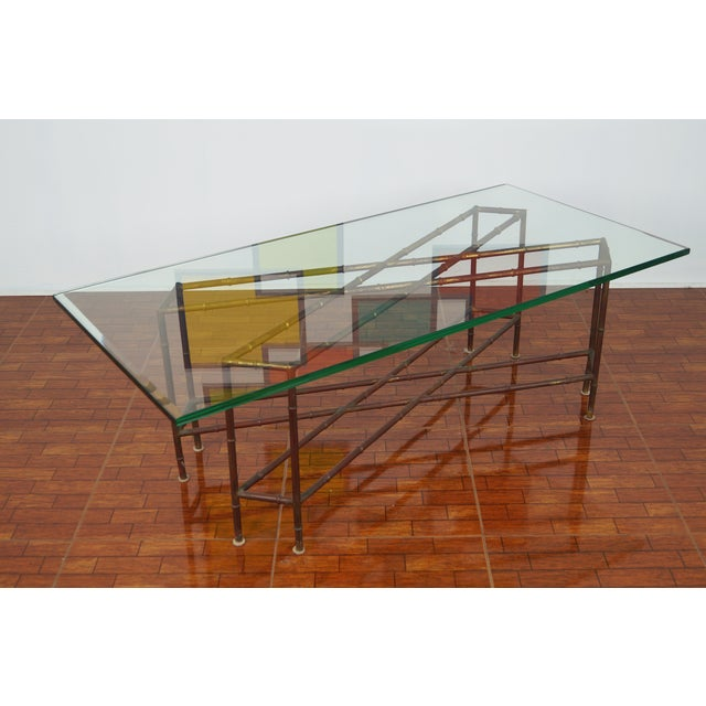 Vintage Faux Bamboo Coffee Table - Image 6 of 6