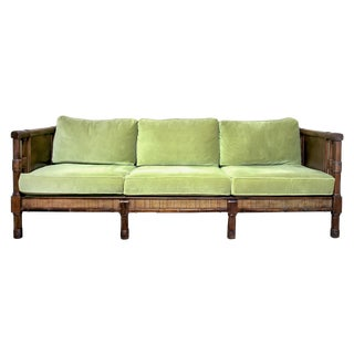 Vintage Broyhill Hollywood Regency Cane Sofa