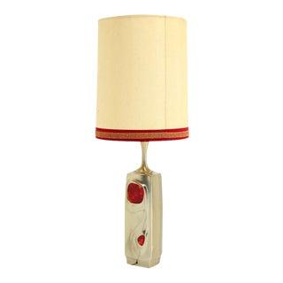 Mid-Century Modern Art Nouveau Style Cast Metal Table Lamp