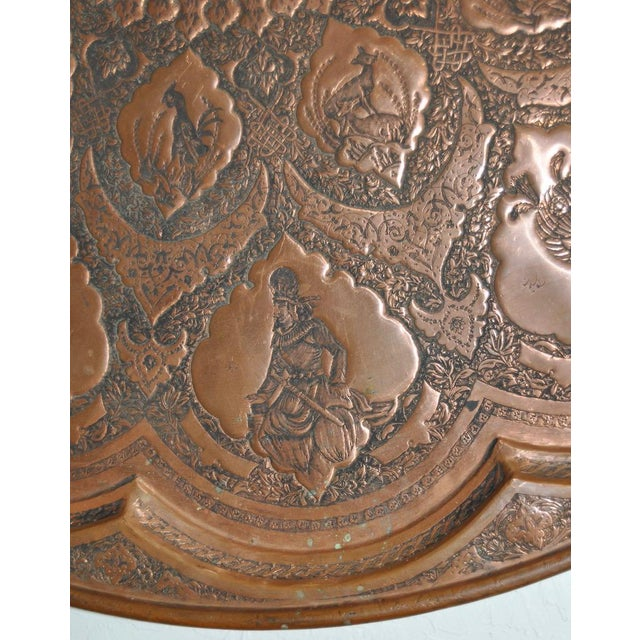 Persian / Indian Copper Table Top - Image 5 of 8