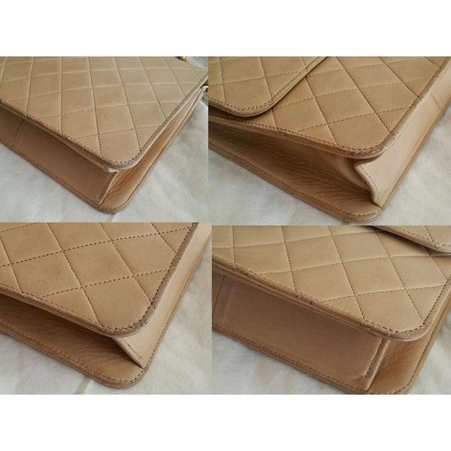 Image of Chanel Lamb Skin Single Chain Handbag