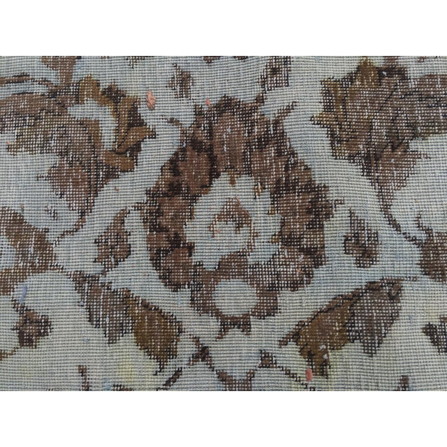 """Overdyed Distressed Persian Rug - 9' X 10'4"""" - Image 6 of 10"""