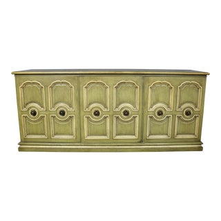Henredon Hollywood Regency Green & Ivory Credenza