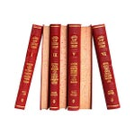 Image of Red Leather Reference Mini Books - Set of 7