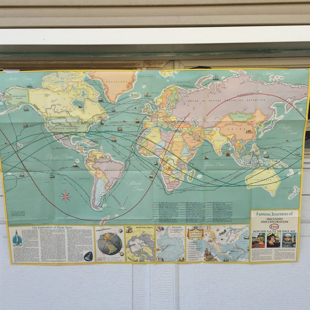 Vintage Map Journeys of Discovery and Exploration - Image 3 of 9