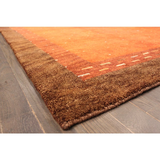 """Hand-Knotted Gabbeh Wool Rug - 7'8"""" x 9'5"""" - Image 5 of 5"""