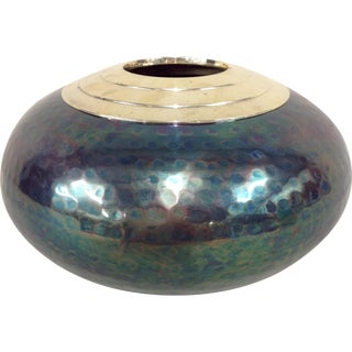Iridescent Mixed Metal Vase
