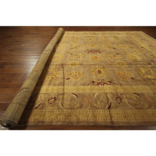 """Oushak Collection Brown Rug - 12'1"""" x 15'10"""" - Image 7 of 10"""