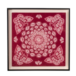 Antique Framed Yi Batik Pink Frabric