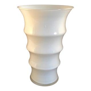 Retro Holmegaard Blixen White Glass Vase