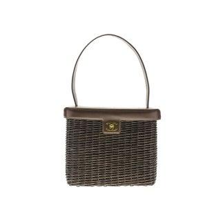 Chanel Vintage Brown Rattan Bag