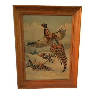 "Mid-Century ""Pheasant"" Paint by Numbers Piece"