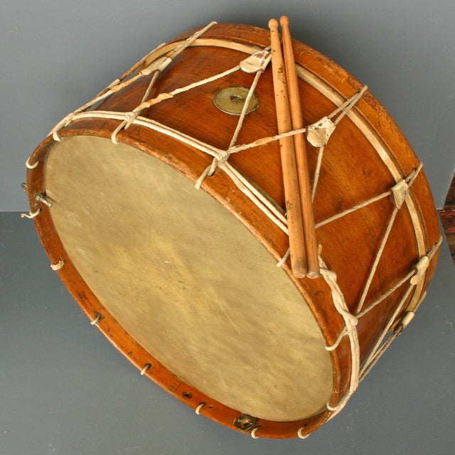Antique Wooden Drum From Belgium - Image 4 of 5