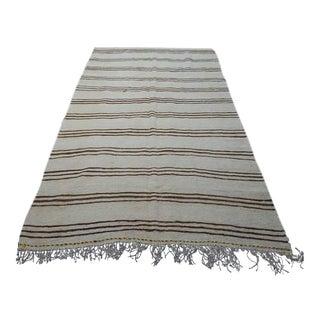 "Traditional Turkish Hemp Carpet - 5'1"" X 9'2"""